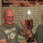 Steve & Ashley Barrett Winners of the Skittles Pairs  Cup (& £400) 2014